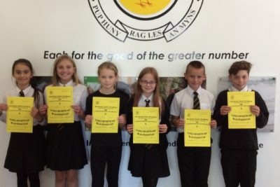 Yellow Certificate and Medal Winners – 16th October 2020