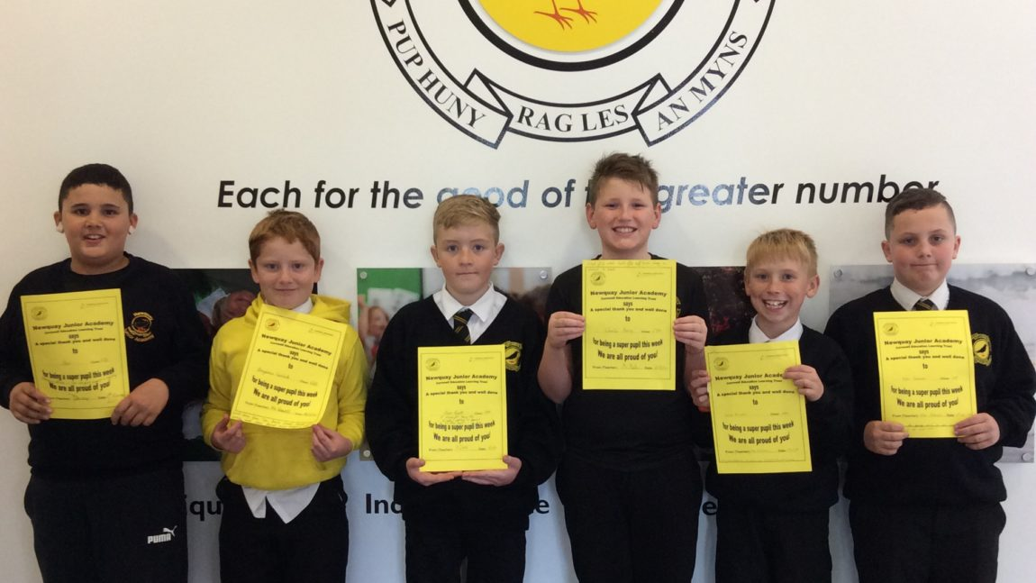 Yellow Certificate and Medal Winners – 6th November 2020