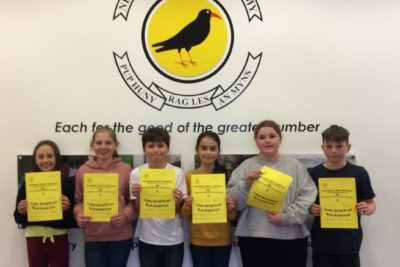 Yellow Certificate and Medal Winners – 23rd November 2020