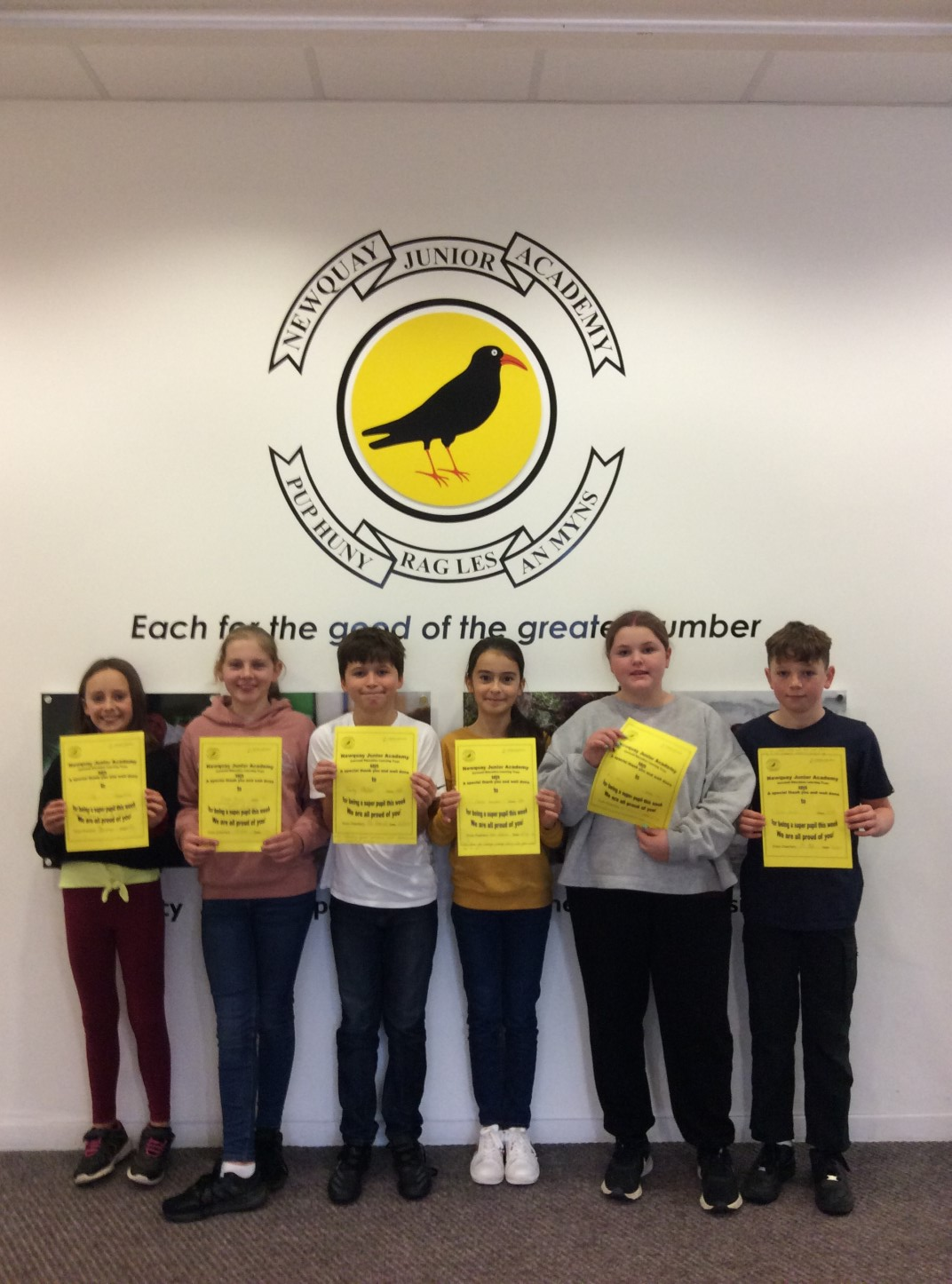 Yellow Certificate and Medal Winners – 20th November 2020