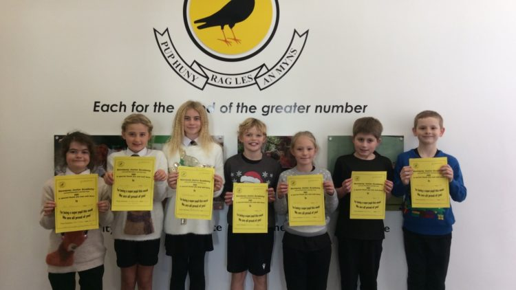 Yellow Certificate and Medal Winners – 11th December 2020