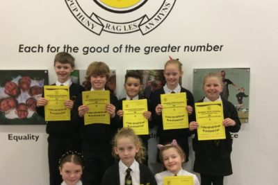 Yellow Certificate and Medal Winners – 18th December 2020