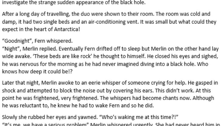 6RD An Adventure Story
