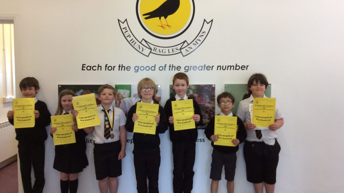 Yellow Certificate and Medal Winners – 23rd April 2021