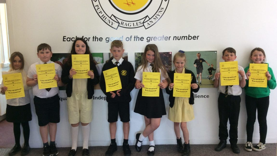 Yellow Certificate and Medal Winners – 14th May 2021