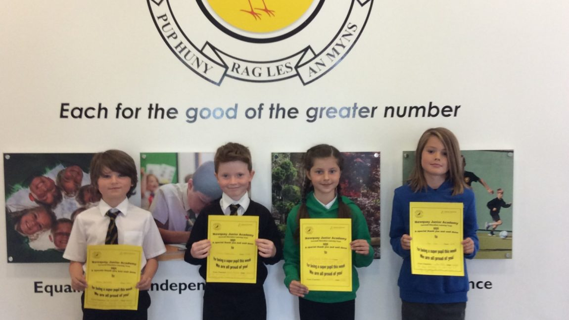 Yellow Certificate and Medal Winners – 28th May 2021