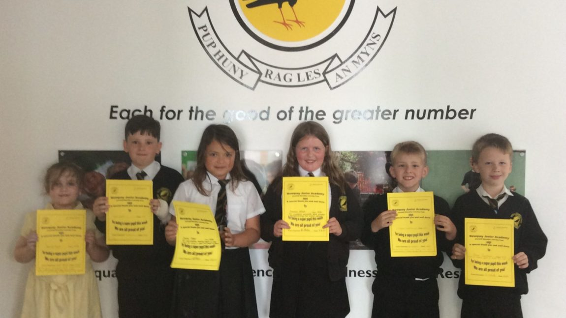 Yellow Certificate and Medal Winners – 11th June 2021