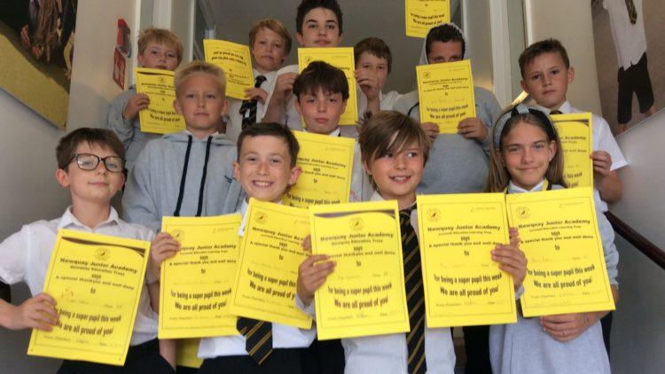 Yellow Certificate & Medal Winners