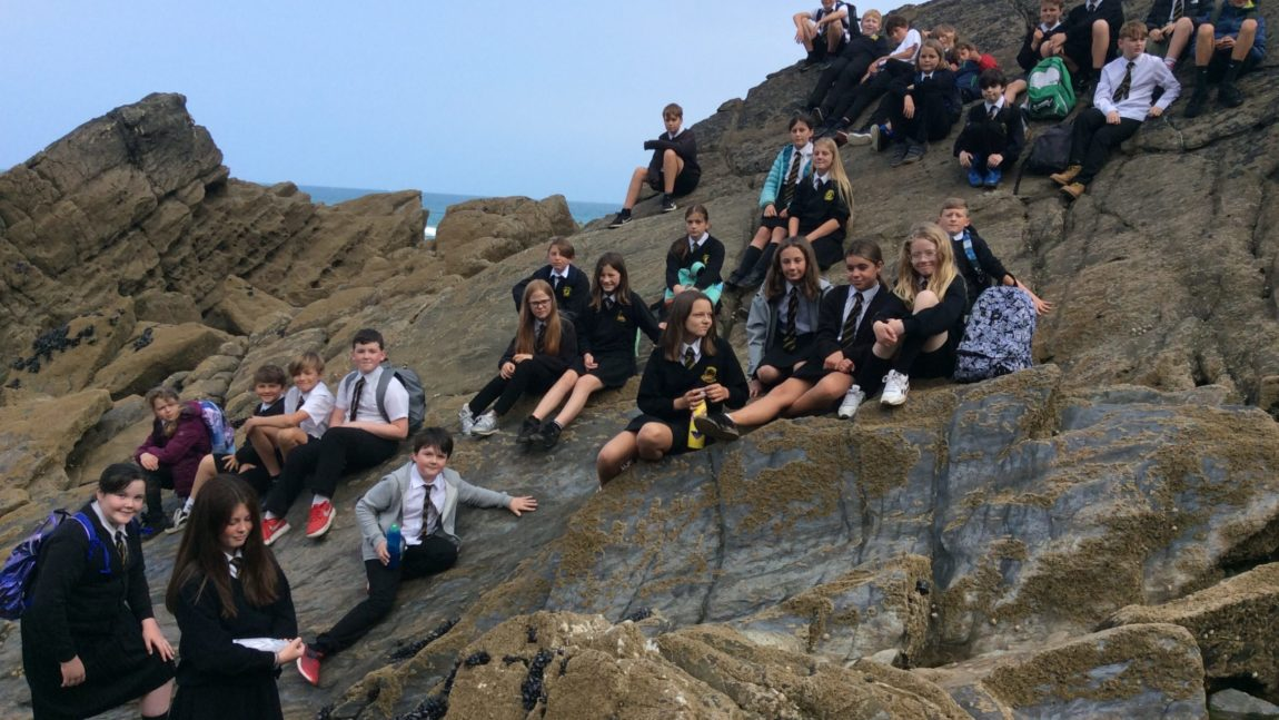 Outdoor learning on Tolcarne Beach